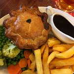 Steak and Ale Pie. Almost too beautiful to eat, but delicious!