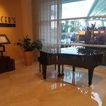 Nice grand piano in the lobby!