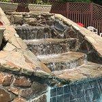 Pool has a nice waterfall
