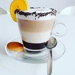 Chocolate orange liqueur cappucino