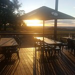 #orangewinetours enjoying a glass of cool climate wine while watching the sunset @cargowines