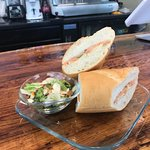 One of our lunch options, the Smoked Salmon Sandwich