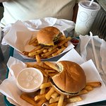 Burgers and fries. The coleslaw was really good!