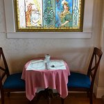 an intimate breakfast table for two