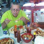 degustando una buena comida, Aguachiles en Tulum