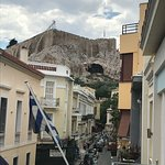 View of Acropolis from our balcony