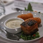 Pork Belly, Soup and Croquettes for Eat Local Week Dinner