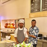 With Culinary Associate Akash Amin