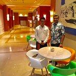 With Javed Ansari
