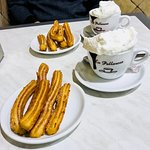 Churros and Chocolate (with cream, of course)