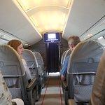 First class in Concorde - quite cramped