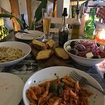 Pastas and salad