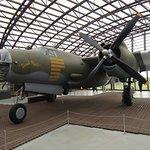 The B26 bomber housed in Utah Beach museum.