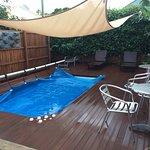 Heated spa pool.