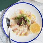 Карпаччо из средиземноморского сибаса / Mediterranean Sea Bass Carpaccio