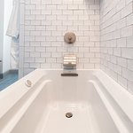 Our Hoxie House features spa-like baths.