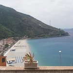 View of beach from castel