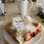 crepe w/fresh fruit and coffee delicious!