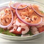 A fresh Prawn salad with a distinctive Marie Rose sauce, just the thing for a summer lunch.