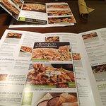 huge menu offerings