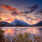 Mount Rundle at Sunrise.