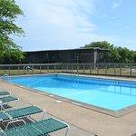 Heated seasonal pool
