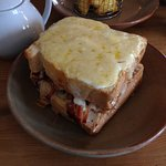 The Croque Monsieur, absolutely huge! and delicious!