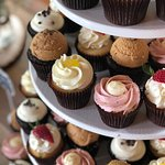 Wedding cupcake variety by Flavor Cupcakery