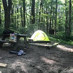 Second tent site
