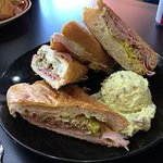 Delicious Best Cuban pressed sandwich with yummy Potato Salad