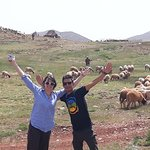 Walking with the sheppards and sheep. What a beautiful section of Morocco. So much vibrant life.