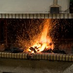 The grill fire is getting prepared for the best quality grilled meat dishes!