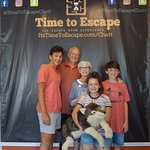 A great family team put Wolfie in safe arms again!