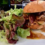 The amazing duck burger