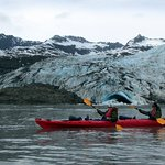 kayaking past Shoup Glacier