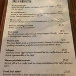 dessert menu June 2018