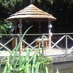 Summer house by the river in the grounds