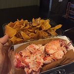 chips and lobster mmmm =)