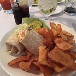 Palmers chicken wrap and home made potato chips