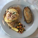 Grouper Pontchartrain and Seafood Lagniappe: absolute perfection