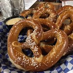 Hofbrauhaus pretzels and beer cheese