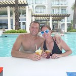 Frozen drinks at the swim-up bar