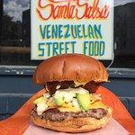 Venezuelan traditional Burger (Hamburguesa Venezolana) by Santa Salsa