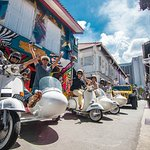 Explore Singapore's heritage, on a piece of heritage! Ride + Walking Tour + Food Tour Options!