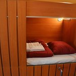 close up of your bed cabines, all cabines have their own lamp and plug