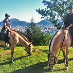 We offer unique horseback riding tours with views over Bergen and the archipelago.