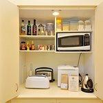 Tree Elle Retreat Lofthouse pantry with breakfast supplies