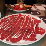Steak Tartar and Beef Carpaccio - The beef is so fresh and delicious.