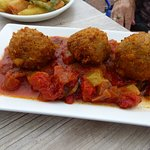Arancini balls at Three Degrees West