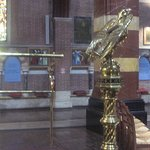 Gilded lectern with an eagle